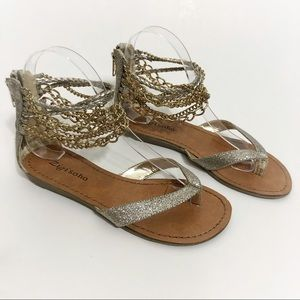 Zigi Soho Ankle Chain Sparkle Sandals